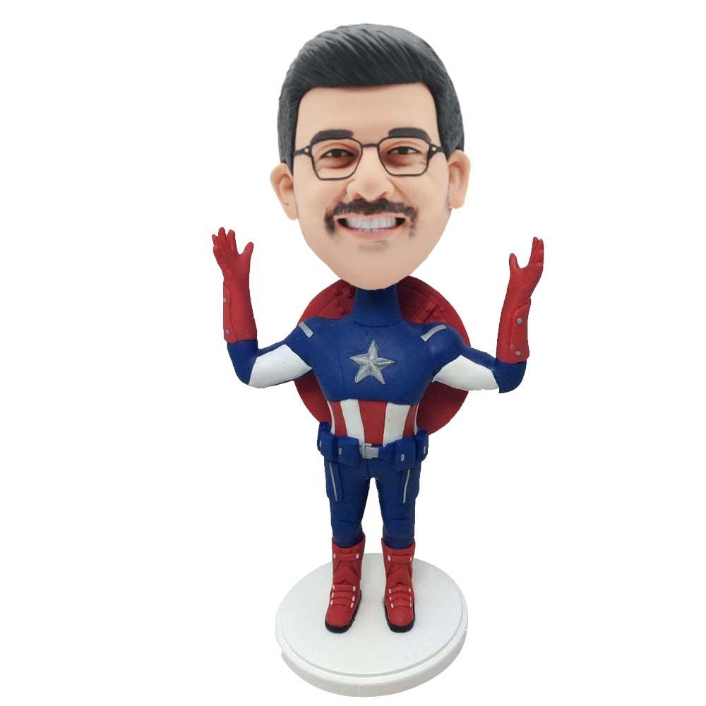 Custom-Captain-America-Bobblehead-Holding-Hands.