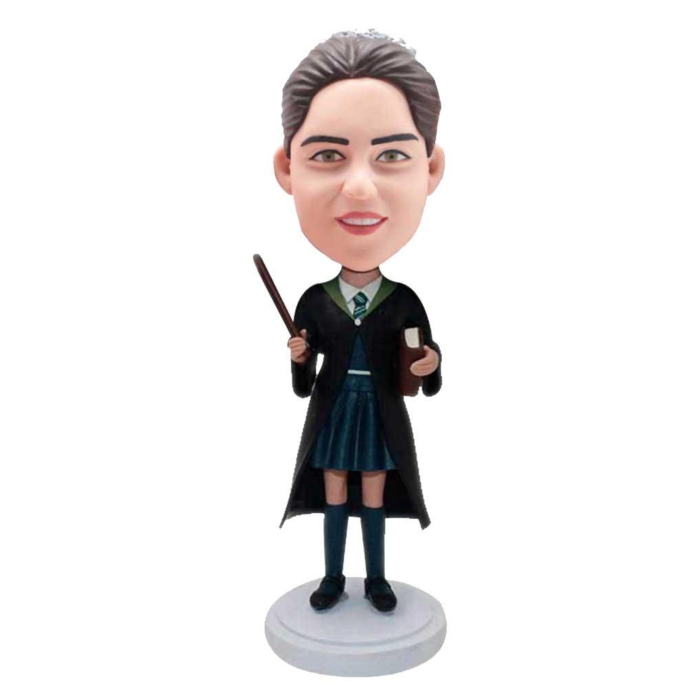 Custom-Female-Harry-Potter-Bobblehead-In-Turquoise-Short-Skirt