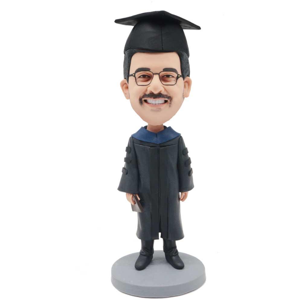 Custom-Male-Graduation-Bobblehead-In-Black-Bachelor-Uniform