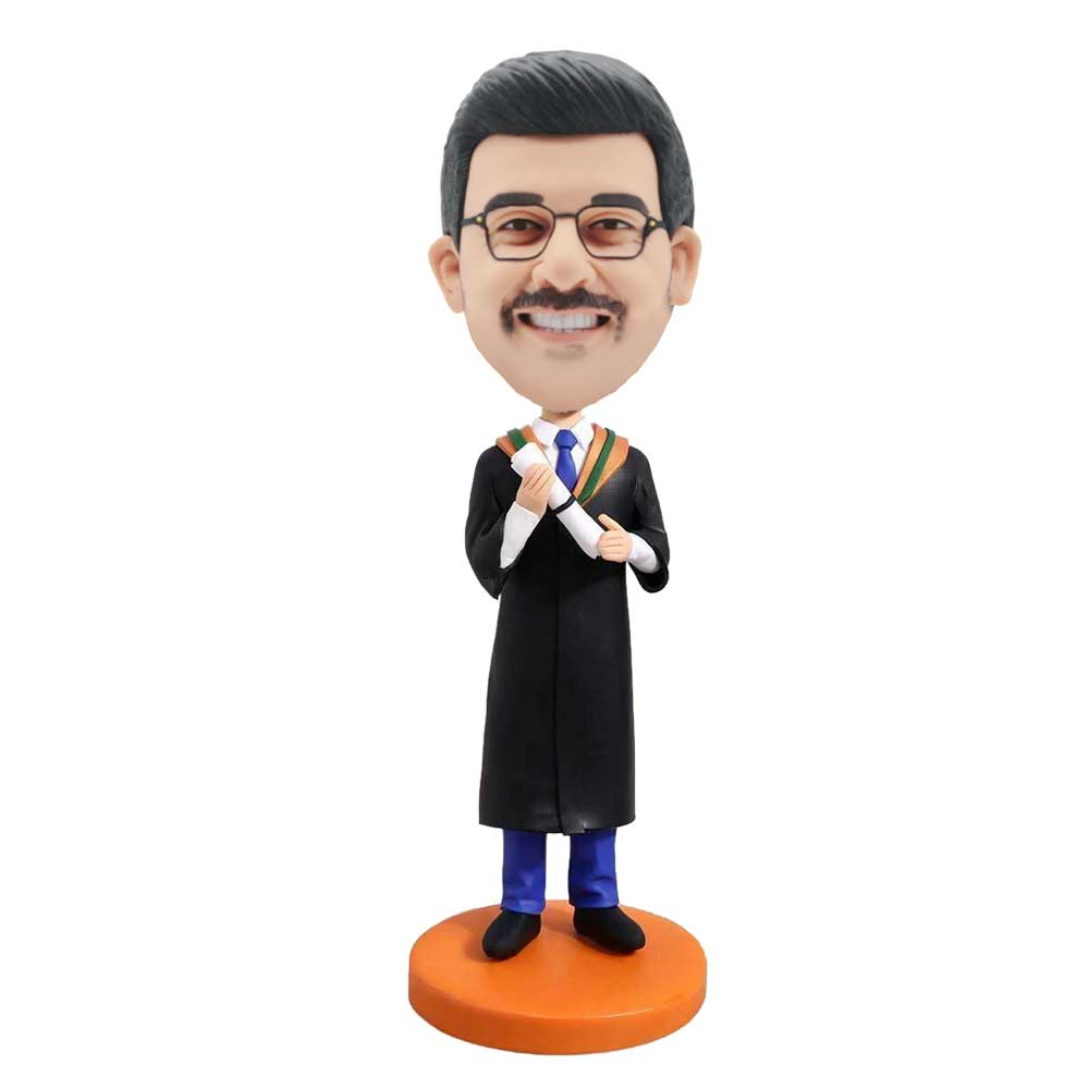 Custom-Male-Graduation-Bobblehead-In-Black-Gown-And-Blue-Pants