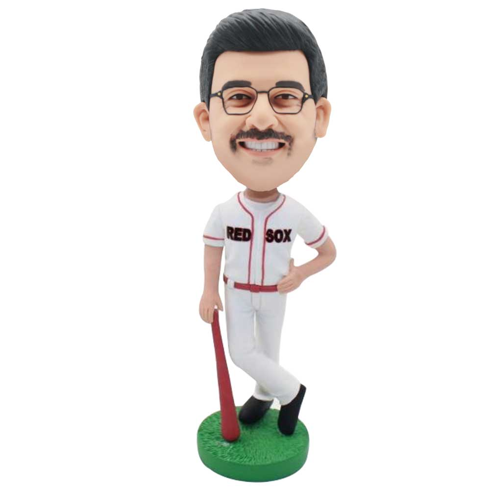 Custom-Male-Red-Sox-Baseball-Player-Bobblehead-In-Professional-Sportswear.