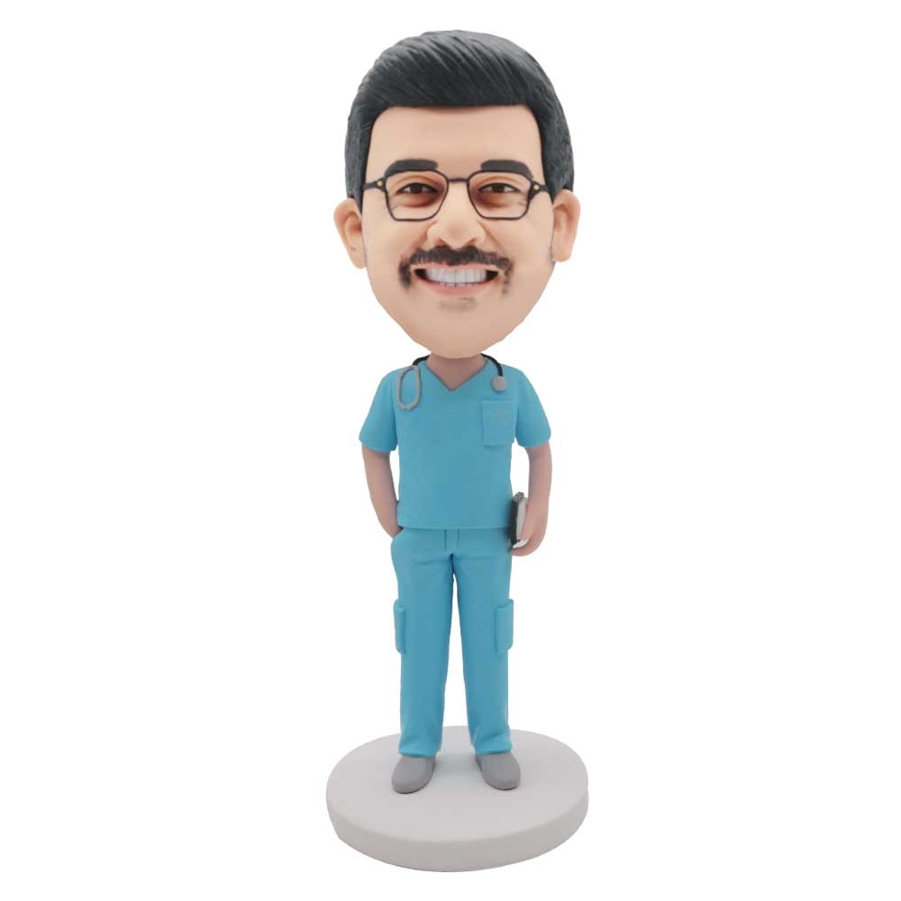 Custom-Male-Surgeon-Doctor-Bobblehead-In-Light-Blue-Surgical-Gown