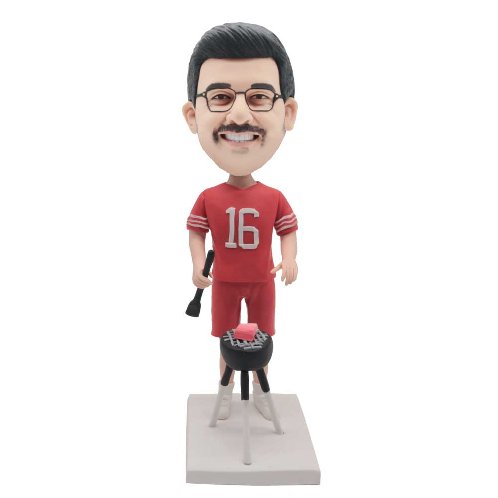 Custom-Happy-BBQ-Grill-Male-Bobblehead-With-Barbecue-Rack