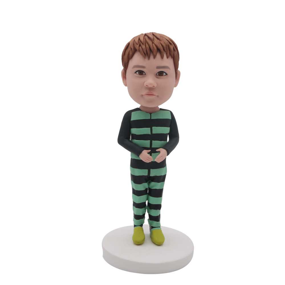 Custom-Little-Boy-Bobblehead-In-Striped-Onesie