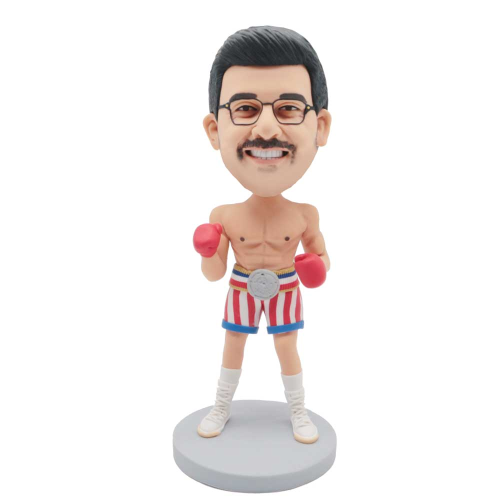 Custom-Male-Boxer-Bobblehead-In-Stripe-Shorts-With-Boxing-Gloves