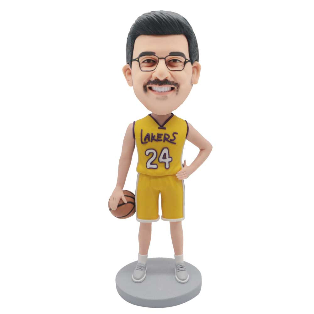 Custom-Male-Lakers-Basketball-Player-Bobblehead