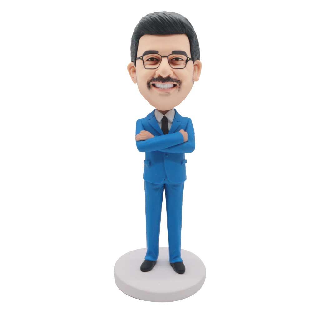 Custom-Male-Office-Boss-Bobblehead-In-Blue-Suit