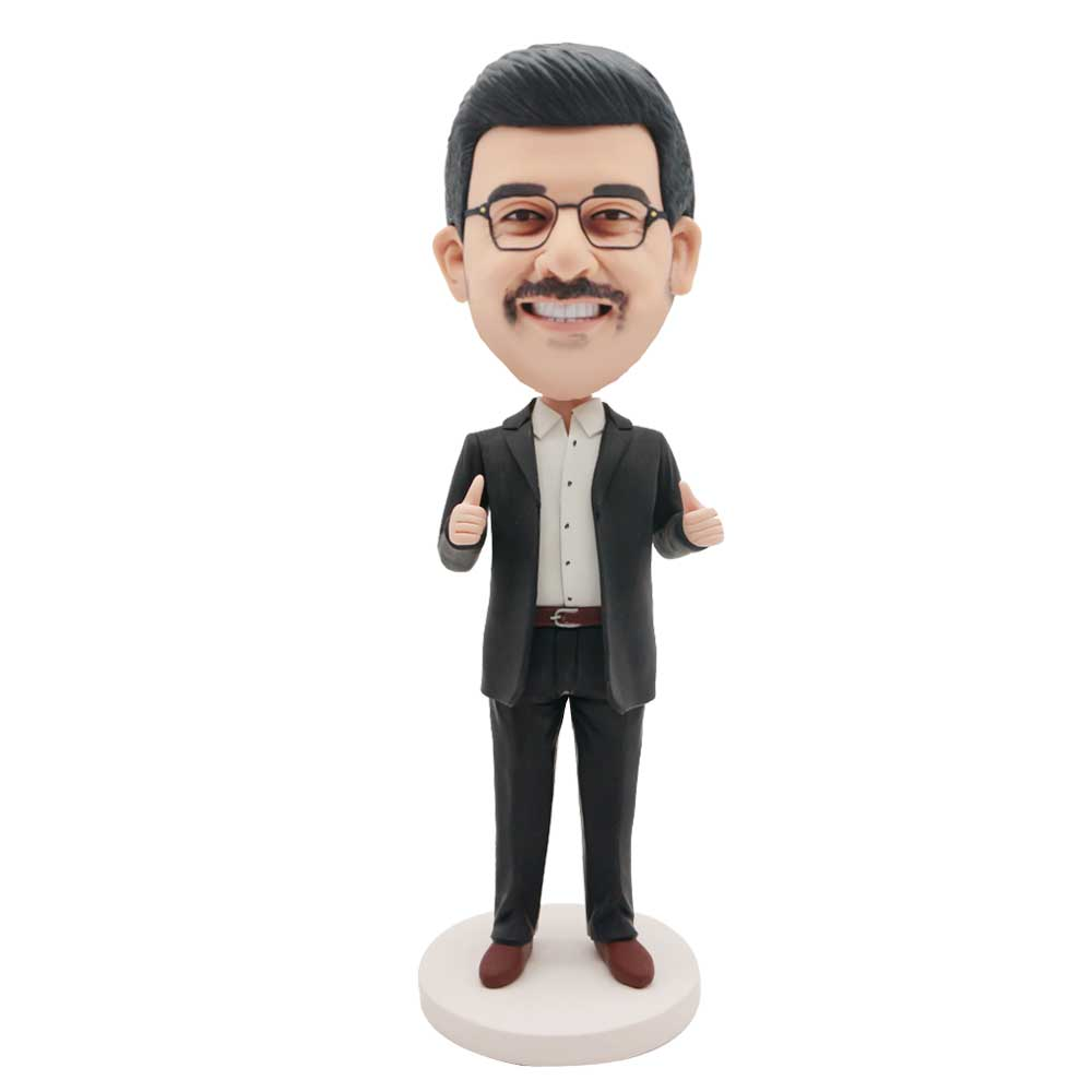 Custom-Office-Male-Bobblehead-In-Black-Suit-With-Thumbs-Up
