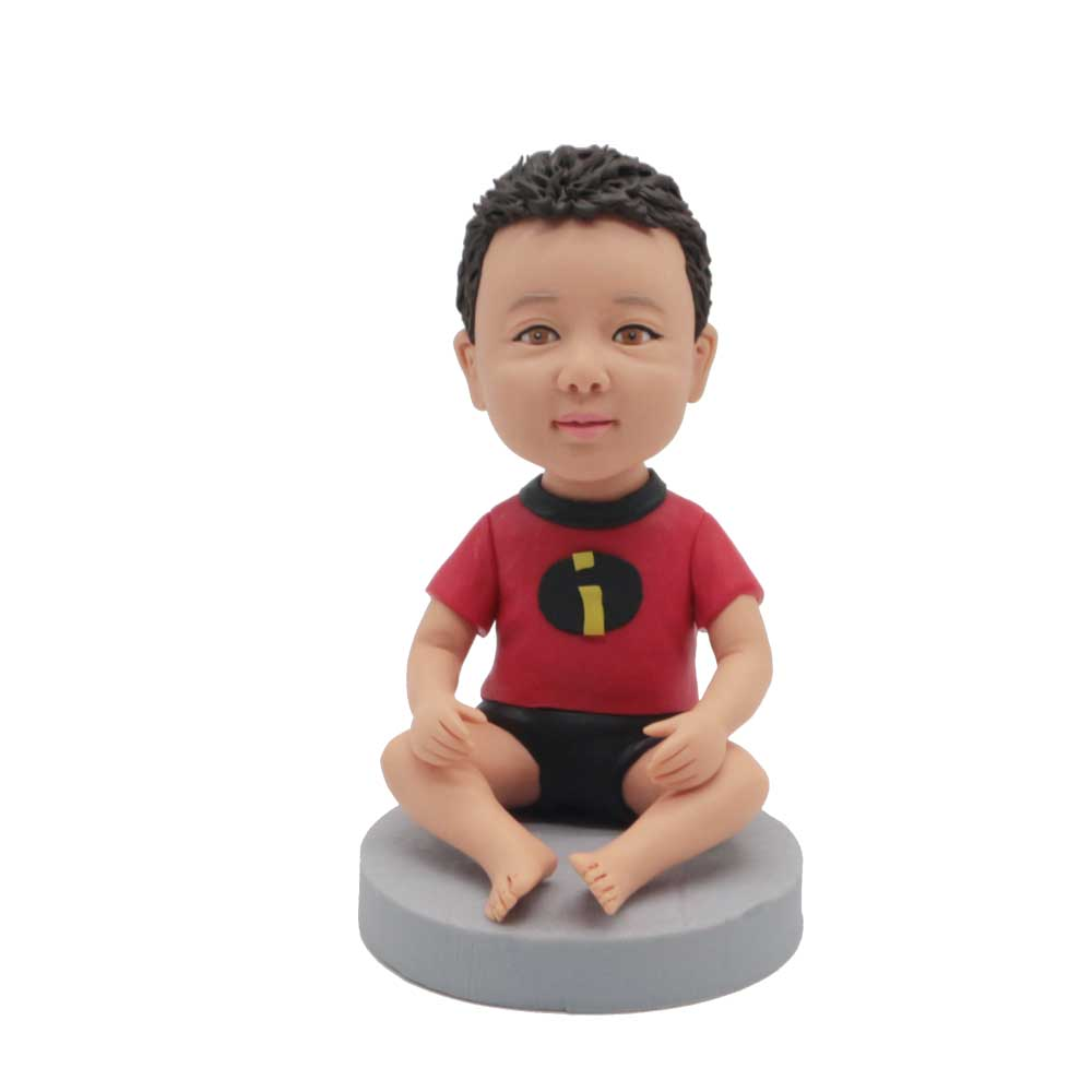 Custom-Super-Cute-Baby-Bobblehead-Sitting-On-The-Ground.