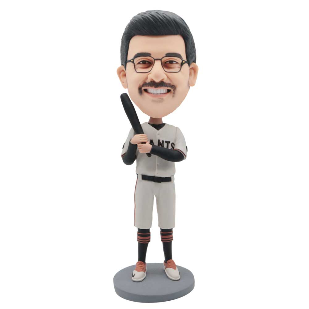 Custom-Male-Baseball-Player-Bobblehead-In-White-Baseball-Uniform-With-Baseball-Bat