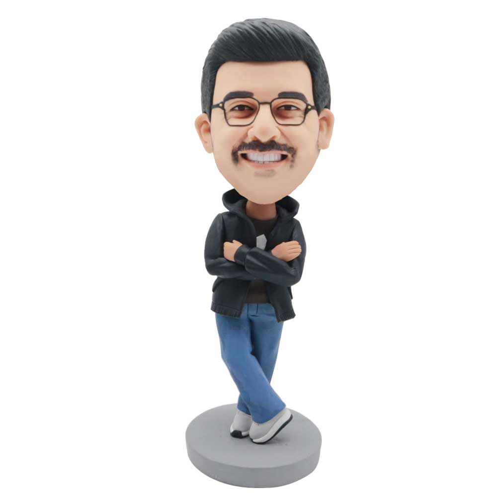 Custom-Male-Bobblehead-In-Black-Coat-And-Blue-Pants-And-His-Arms-Chest