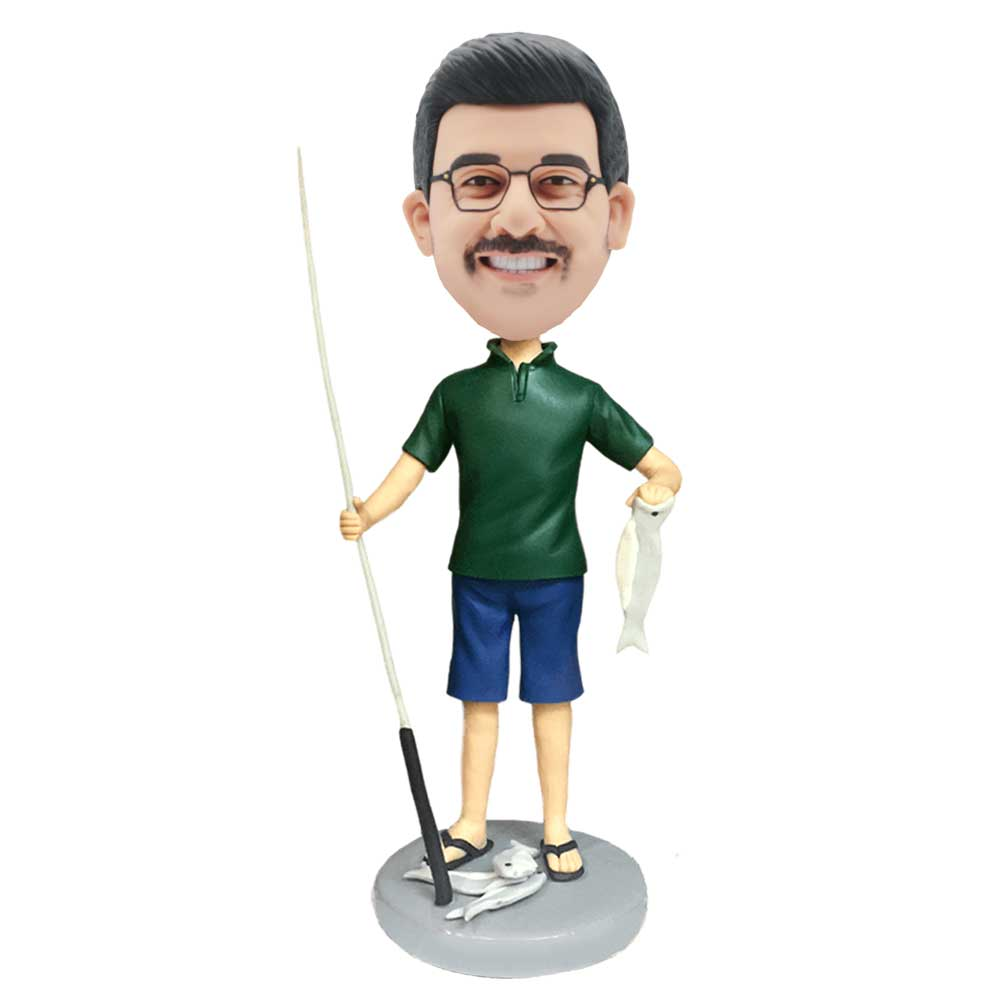 Custom-Male-Fisherman-Bobblehead-Holding-The-Rod-And-The-Fish