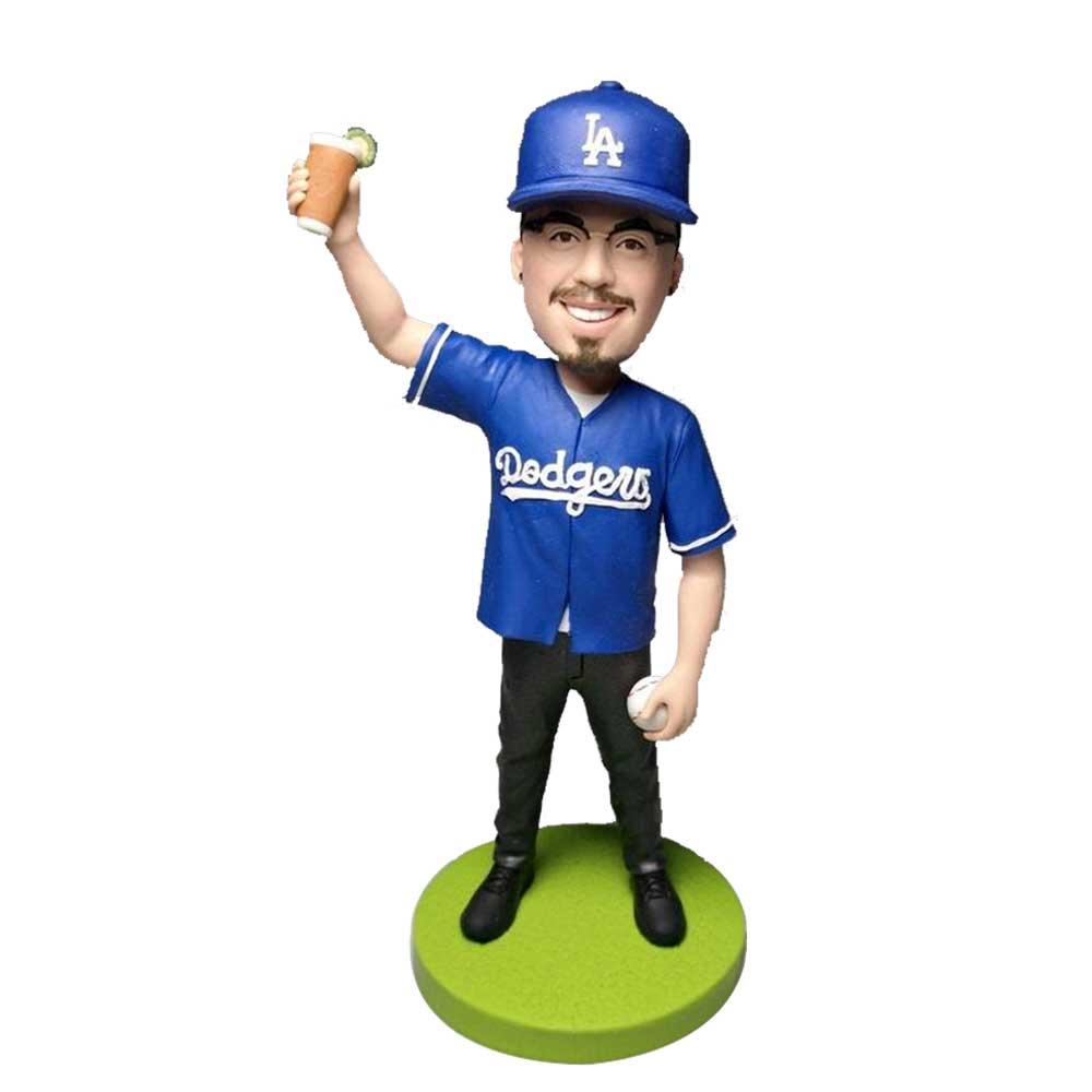 Custom-Male-LA-Dodgers-Fan-Bobblehead-In-Blue-T-shirt.