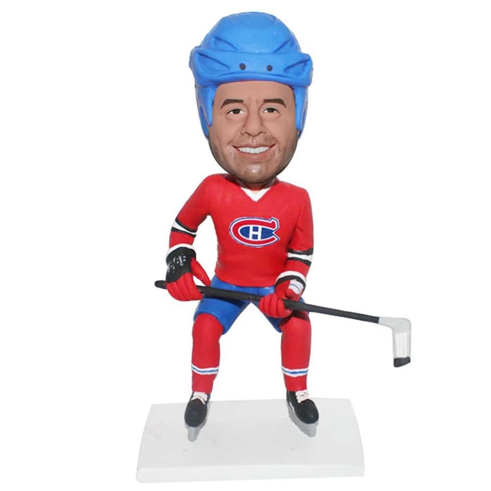 Custom-Male-NHL-Hockey-Bobblehead-In-Red-Uniforms.