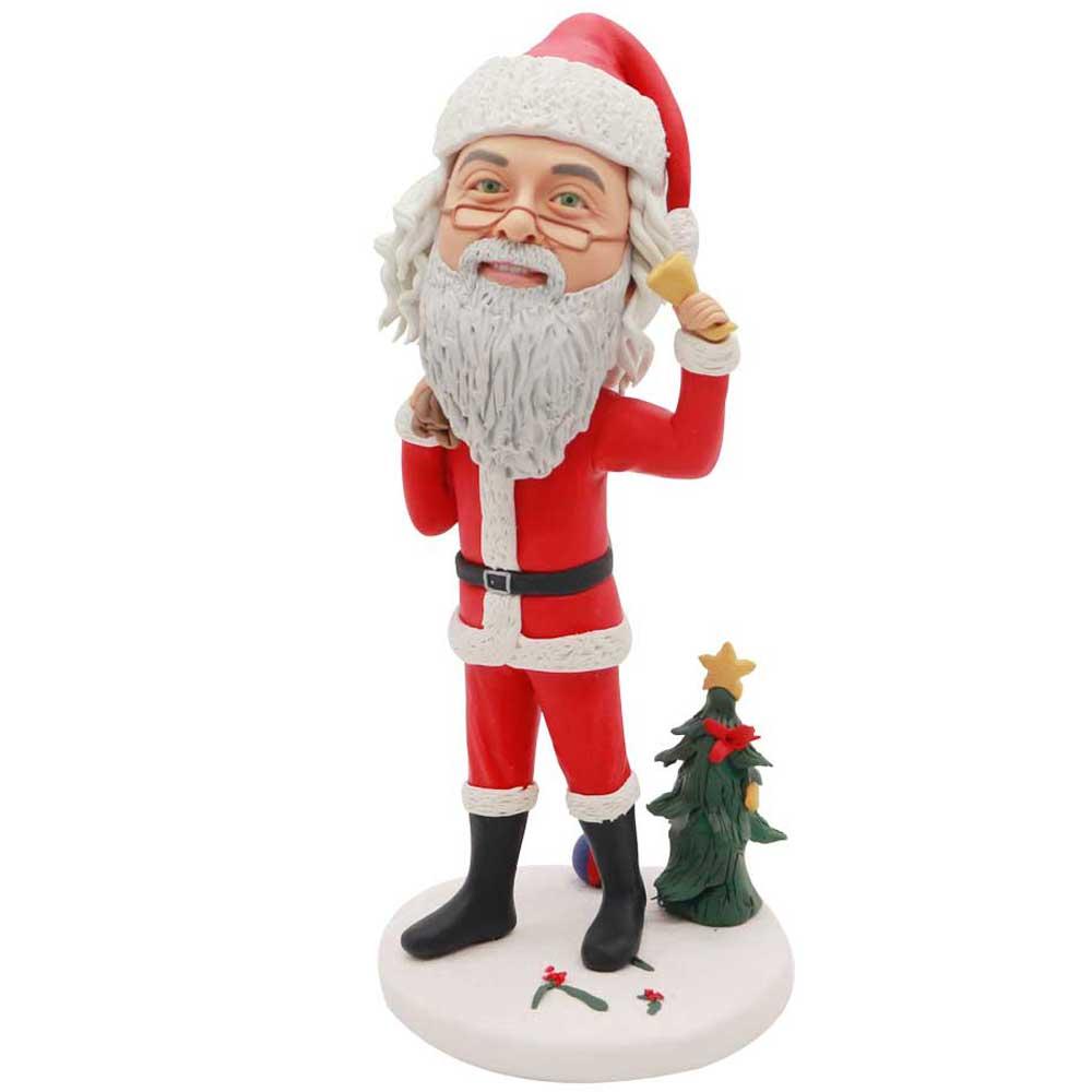 Custom-Santa-Claus-Bobblehead-With-Christmas-Gift
