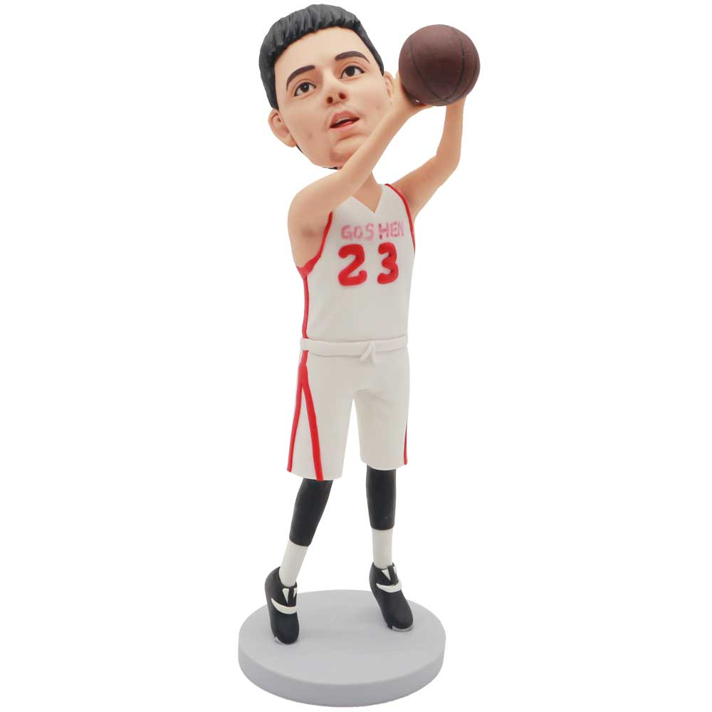 Custom-Male-Basketball-Player-Bobblehead-In-Basketball-Clothes-With-Shooting-Posture
