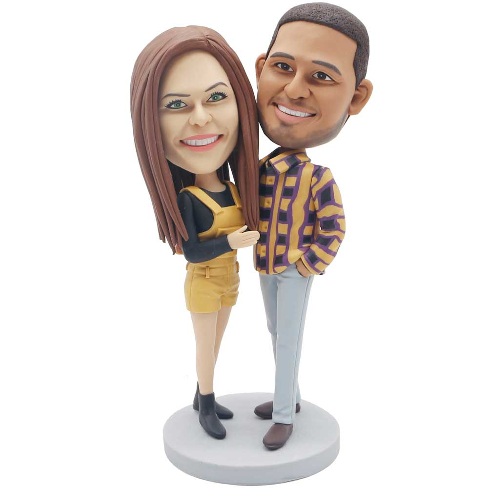 Custom-Couple-Bobblehead-In-Casual-Clothes
