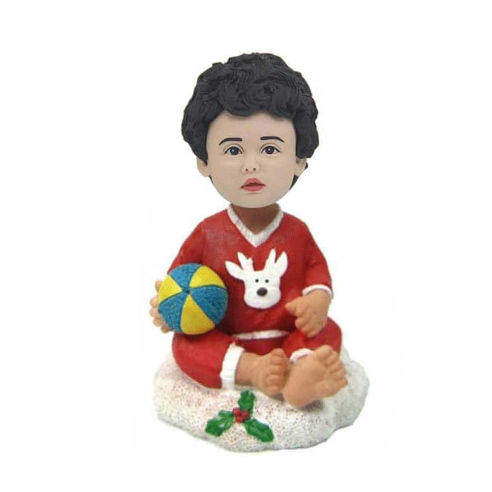 Custom-Christmas-Baby-Bobbleheads-With-Ball